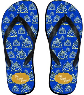 Phi Sigma Sigma Mascot Color Flip Flops