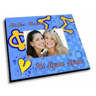 Phi Sigma Sigma Mascot Color Picture Frame