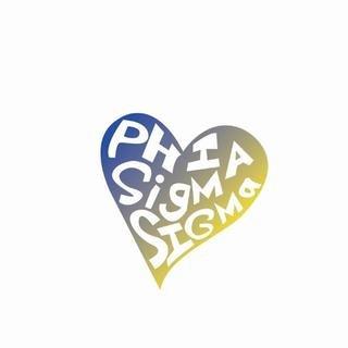 Phi Sigma Sigma Mascot Greek Letter Sticker