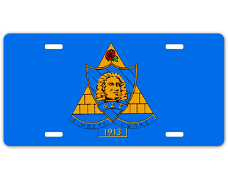 Phi Sigma Sigma Crest - Shield License Plate