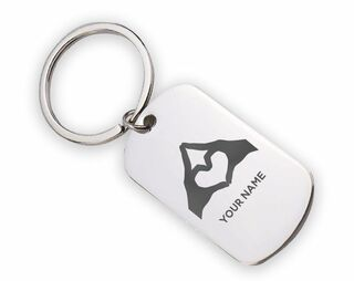 Phi Sigma Sigma Mascot Stainless Keychain