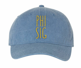 Phi Sigma Sigma Mod Pigment Dyed Baseball Cap