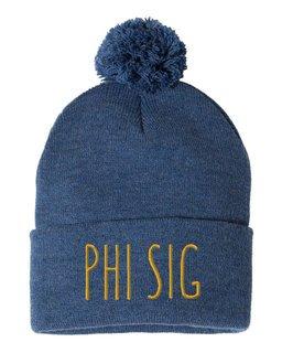 Phi Sigma Sigma Mod Pom Pom Beanie