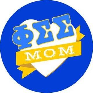 Phi Sigma Sigma Mom Round Decals