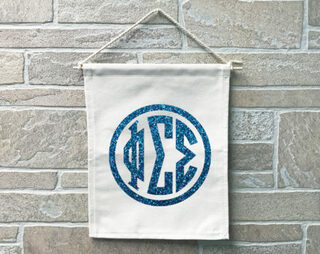 Phi Sigma Sigma Monogram Banner