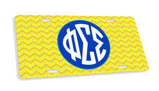 Phi Sigma Sigma Monogram License Plate
