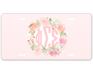 Phi Sigma Sigma Monogram License Plate