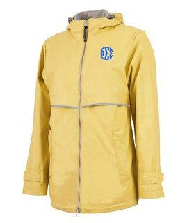Phi Sigma Sigma New Englander Circle Monogram Rain Coat
