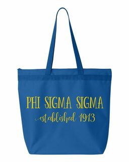 Phi Sigma Sigma New Established Tote Bag