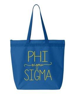 Phi Sigma Sigma New Handwriting Tote Bag