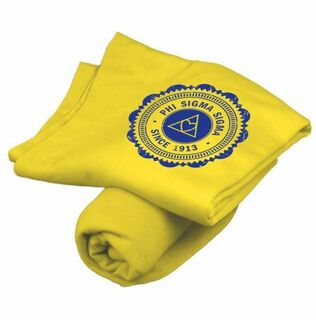 Phi Sigma Sigma Old School Seal Sweatshirt Blanket