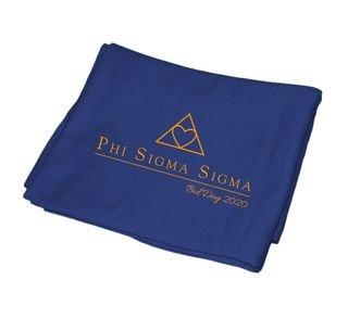 Phi Sigma Sigma Mascot  Sweatshirt Blanket