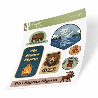 Phi Sigma Sigma Outdoor Sticker Sheet