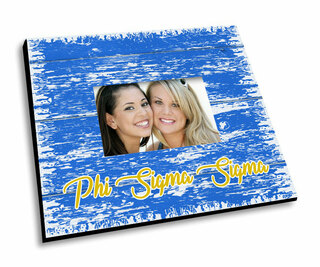 Phi Sigma Sigma Painted Fence Picture Frame