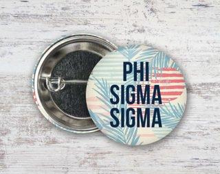 Phi Sigma Sigma Paradise Found Button