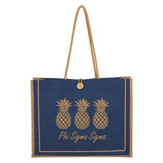 Phi Sigma Sigma Paradise Jute Bag