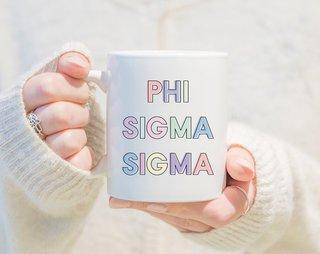 Phi Sigma Sigma Pastel Mug