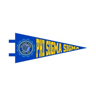 """Phi Sigma Sigma Pennant Decal 4"""" Wide"""