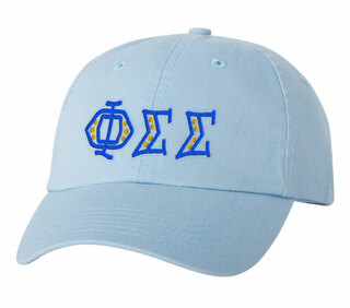 Phi Sigma Sigma Peppermint Polkadots Sorority Line Hat