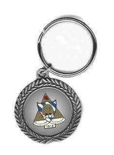 Phi Sigma Sigma Pewter Key Ring
