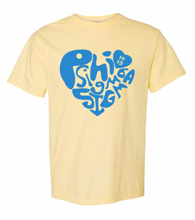 Phi Sigma Sigma Piece of My Heart Sorority Comfort Colors T-Shirt