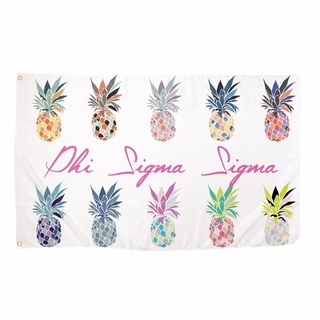 Phi Sigma Sigma Pineapple Flag