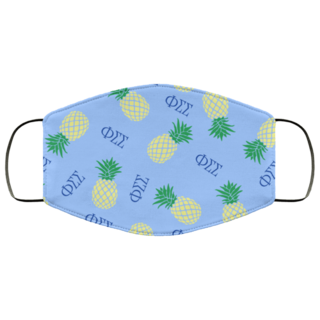Phi Sigma Sigma Pineapples Face Mask