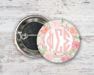 Phi Sigma Sigma Pretty In Pink Button
