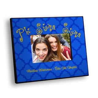 Phi Sigma Sigma Quatrefoil Picture Frame