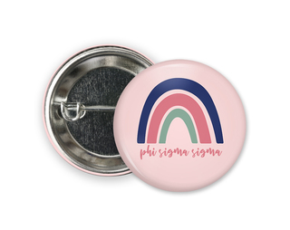 Phi Sigma Sigma Rainbow Button