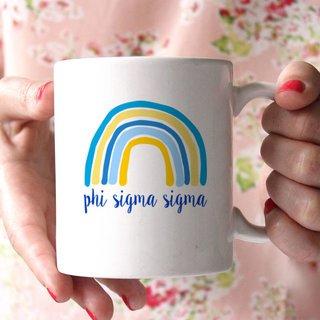 Phi Sigma Sigma Rainbow Coffee Mug