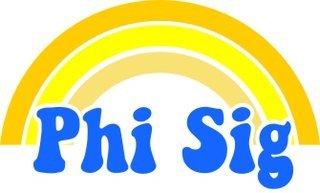 Phi Sigma Sigma Rainbow Decals