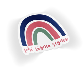 Phi Sigma Sigma Rainbow Sticker