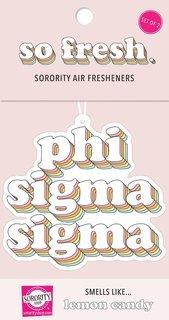 Phi Sigma Sigma Retro Air Freshener (2 pack)