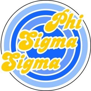 Phi Sigma Sigma Retro Round Decals