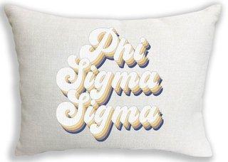 Phi Sigma Sigma Retro Throw Pillow