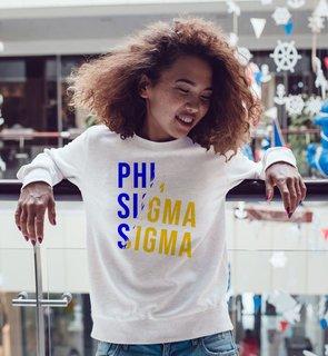 Phi Sigma Sigma Ripped Favorite Crewneck
