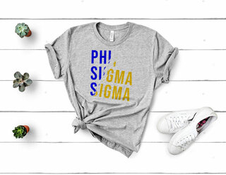 Phi Sigma Sigma Ripped Favorite T-Shirt