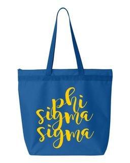 Phi Sigma Sigma Script Tote bag