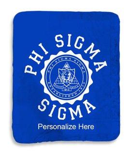 Phi Sigma Sigma Seal Sherpa Lap Blanket
