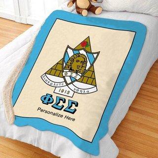 Phi Sigma Sigma Sherpa Lap Blanket