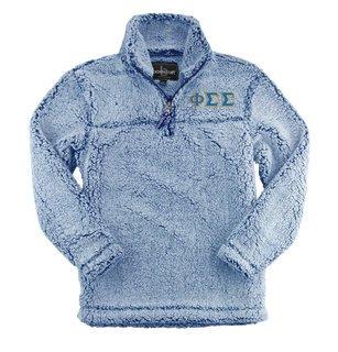 Phi Sigma Sigma Sherpa Quarter Zip Pullover