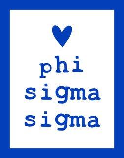 Phi Sigma Sigma Simple Heart Sticker