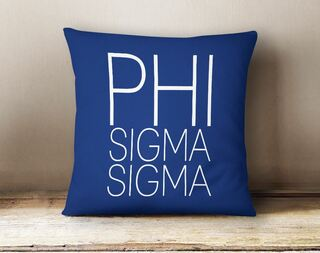 Phi Sigma Sigma Simple Pillow
