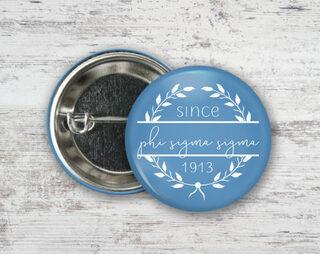 Phi Sigma Sigma Since Founded Button