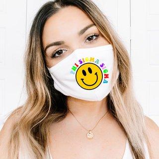 Phi Sigma Sigma Smiley Face Face Mask