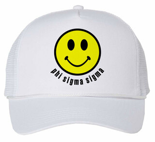 Phi Sigma Sigma Smiley Face Trucker Hat