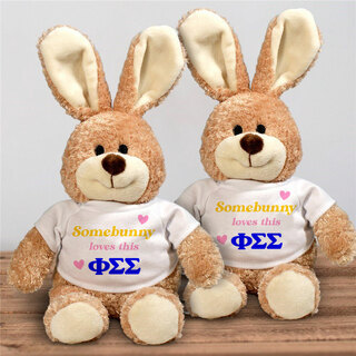 Phi Sigma Sigma Somebunny Loves Me Stuffed Bunny
