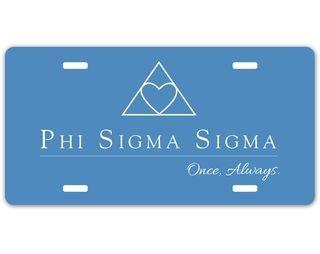 Phi Sigma Sigma Sorority Logo License Cover