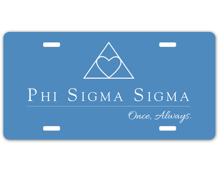Phi Sigma Sigma Sorority Logo License Cover